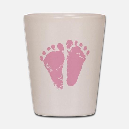 Pink Feet Shot Glass