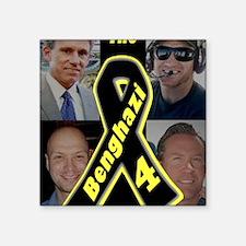 "BenghaziRibbon4sm Square Sticker 3"" x 3"""