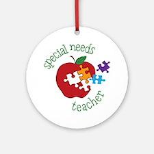 Special Needs Teacher Round Ornament