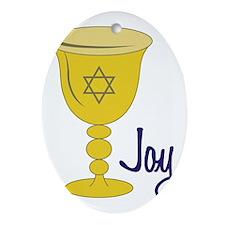 Joy Oval Ornament