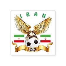 """Iran Football Designs Square Sticker 3"""" x 3"""""""