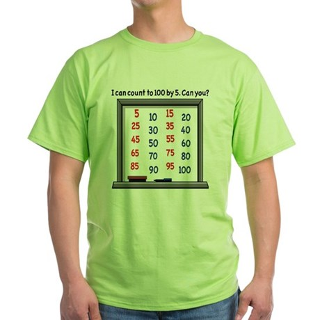 Count by 5 Whiteboard Green T-Shirt