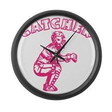 pink Arch Large Wall Clock