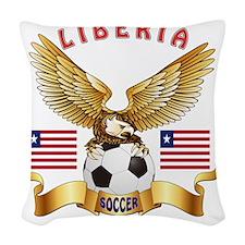 Liberia Football Designs Woven Throw Pillow