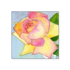 "Simply A Rose Square Sticker 3"" x 3"""