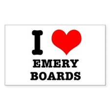 I Heart (Love) Emery Boards Rectangle Decal