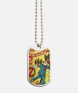 The Scarecrow of Oz Book Cover Dog Tags
