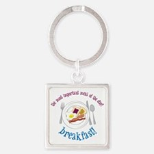 Important Meal Square Keychain