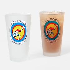 Willpower Wrestling Club Drinking Glass