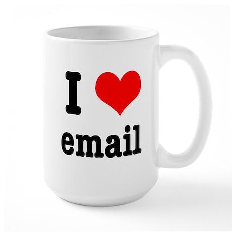 I Heart (Love) Email Large Mug
