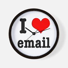 I Heart (Love) Email Wall Clock