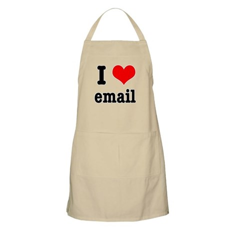 I Heart (Love) Email BBQ Apron