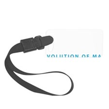 evolution of man with a buggy Luggage Tag