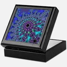 Peacock Fractal Keepsake Box