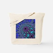 Peacock Fractal Tote Bag