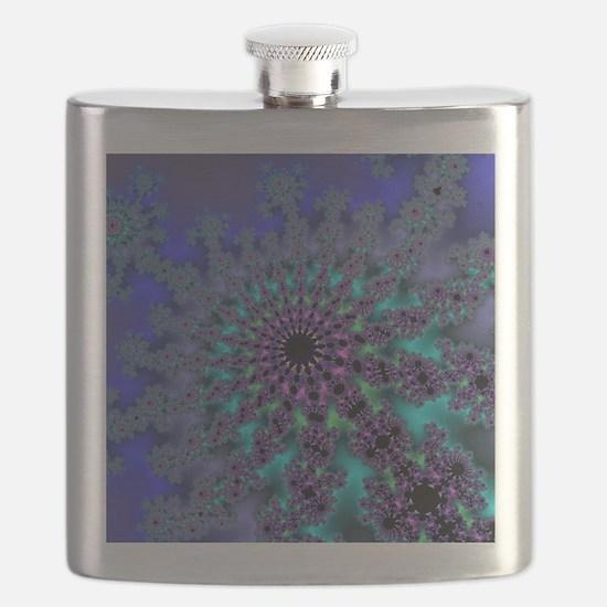 Peacock Fractal Flask