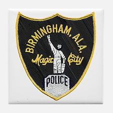 Birmingham Police patch Tile Coaster