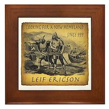 Leif Ericson Framed Tile