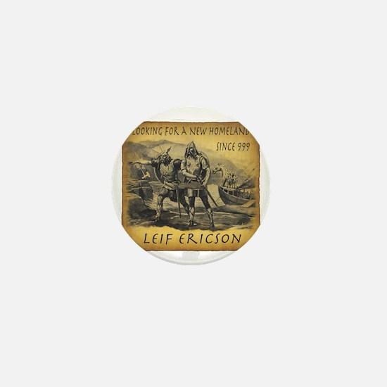 Leif Ericson Mini Button