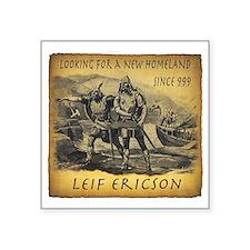 "Leif Ericson Square Sticker 3"" x 3"""