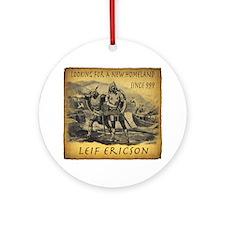 Leif Ericson Round Ornament