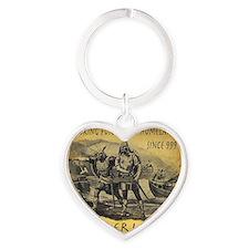 Leif Ericson Heart Keychain