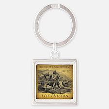Leif Ericson Square Keychain