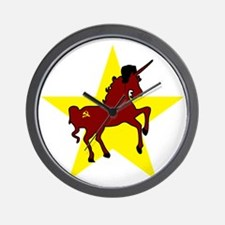 Russian Unicorn Wall Clock