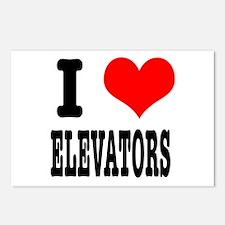 I Heart (Love) Elevators Postcards (Package of 8)