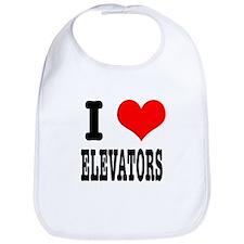 I Heart (Love) Elevators Bib