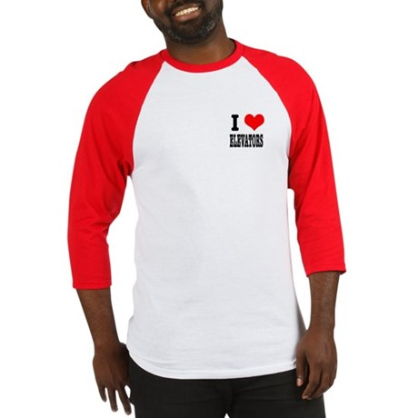 I Heart (Love) Elevators Baseball Jersey