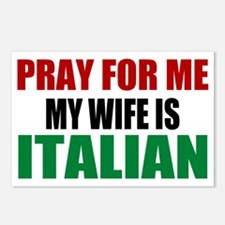 Pray Wife Italian Postcards (Package of 8)