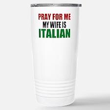 Pray Wife Italian Travel Mug