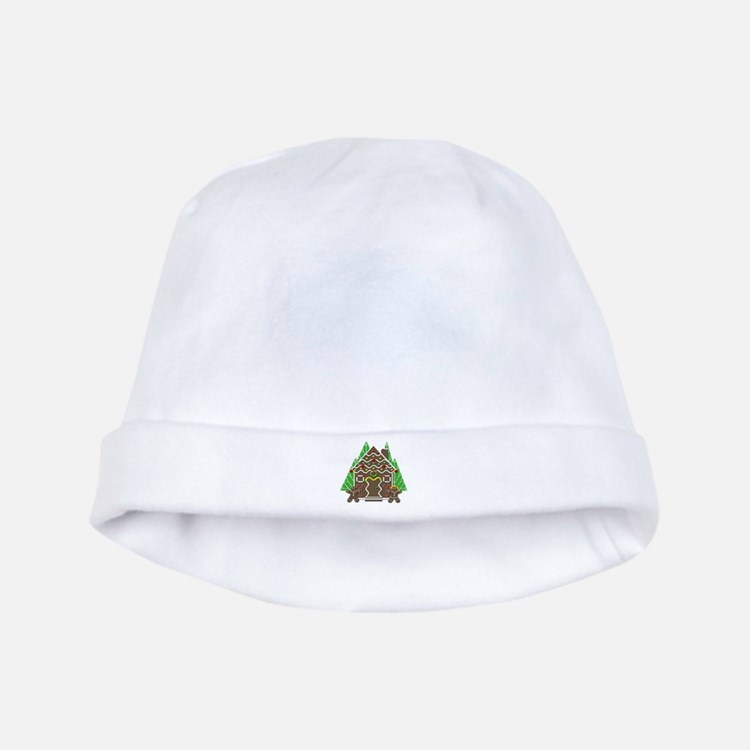 Cute Gingerbread House Christmas baby hat