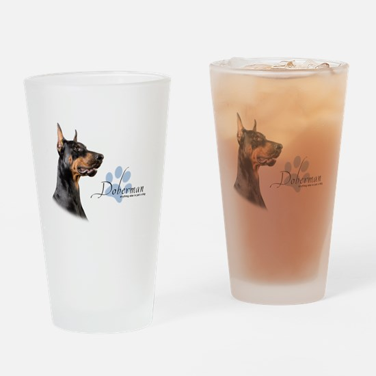 Doberman Drinking Glass