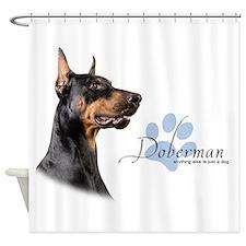 Doberman Shower Curtain