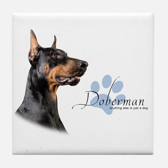 Doberman Tile Coaster