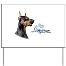 Doberman Yard Sign