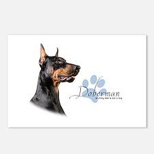 Doberman Postcards (Package of 8)