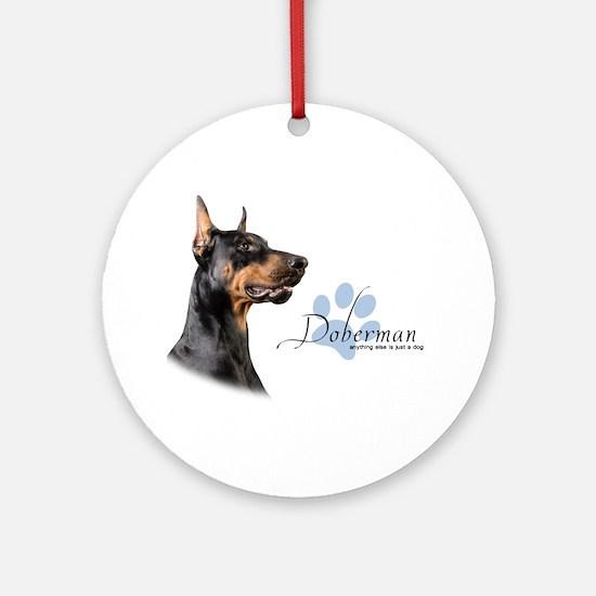 Doberman Ornament (Round)