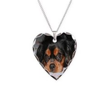 Puppy King Charles Spaniels P Necklace Heart Charm