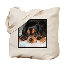 Puppy King Charles Spaniels Pillow Tote Bag