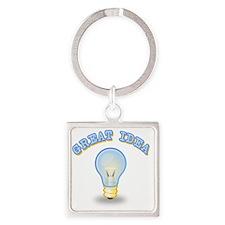 Great Idea Square Keychain