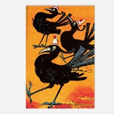 Oz Crows Postcards (Package of 8)