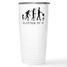 evolution of man with a Travel Coffee Mug
