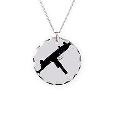 UZI Silhouette Necklace Circle Charm