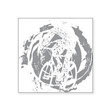 "Psycho-Cross Square Sticker 3"" x 3"""