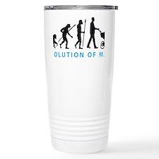evolution of man with a Travel Mug