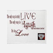 Live Laugh Love Sentiment Throw Blanket