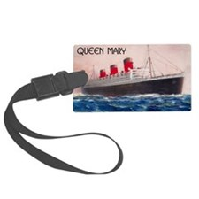 Queen Mary Red Border Luggage Tag